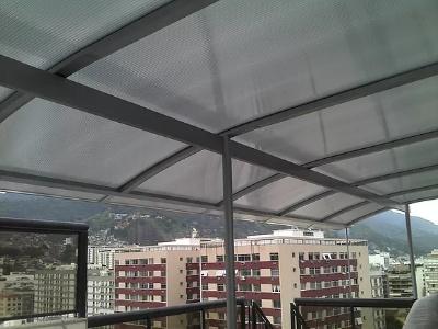 instalação de cobertura em policarbonato no RJ